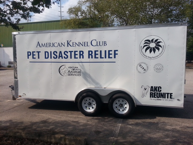 Ventura Dog Fanciers Pet Disaster Trailer