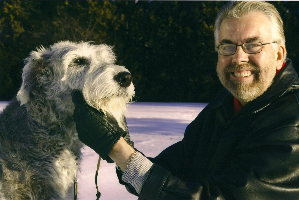 Jim Reynolds and Irish Wolfhound Peri