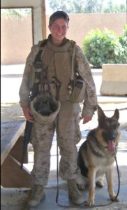Megan Leavey and Rex
