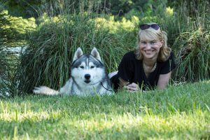 AKC Vice President Government Relations, Sheila Goffe and her Siberian Husky