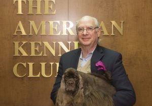 AKC President & CEO Dennis Sprung with AKCNC BIS winner, Striker