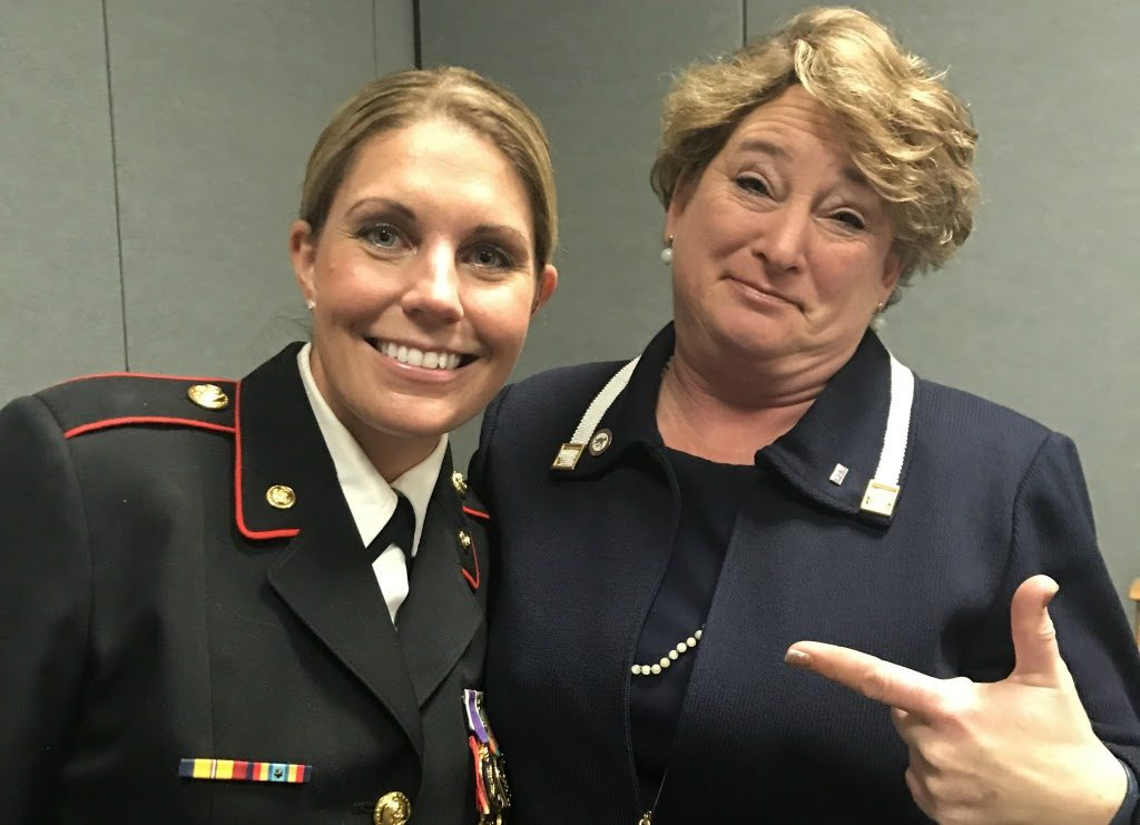 Megan Leavey and Laura Reeves