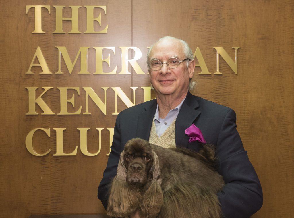 AKC President & CEO Dennis Sprung with AKCNC BIS winner, Striker